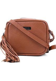 Bolsa Couro Santa Lolla Mini Bag Barbicachos Feminina - Feminino-Vermelho Escuro