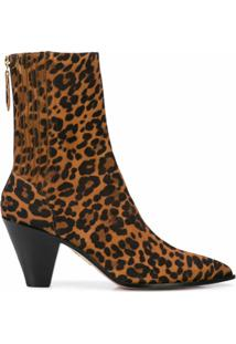 Aquazzura Bota Animal Print - Marrom