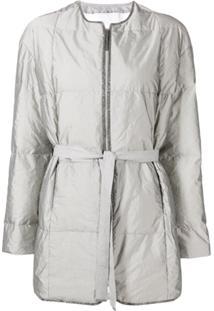 Fabiana Filippi Belted Padded Jacket - Cinza