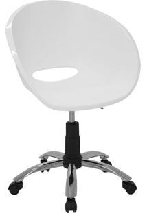 Cadeira Giratória Tramontina 92071010 Elena Em Polipropileno Branca