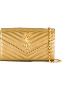 Saint Laurent Carteira Envelope - Dourado