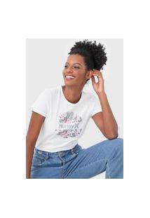 Camiseta Hurley Crush Floral Branca
