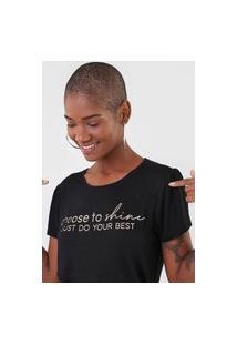 Camiseta Rovitex Lettering Preta