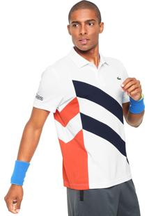 Camisa Polo Lacoste Recortes Branca