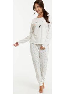 Pijama Feminino Estampa Urso Marisa