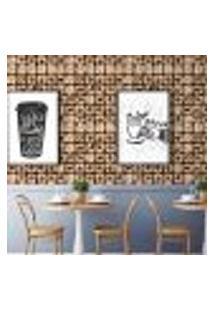 Papel De Parede Autocolante Rolo 0,58 X 3M - Café Cozinha 262050105