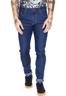 Calça Jeans Triton Skinny Pesponto Azul