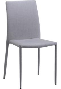 Cadeira De Jantar Glam Bege Or Design - Cinza - Dafiti