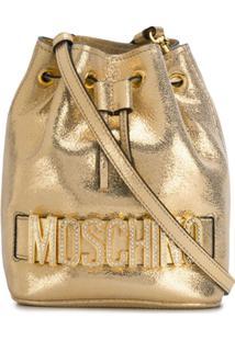 Moschino Bolsa Saco Com Efeito Metalizado - Dourado