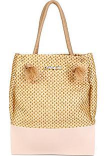 Bolsa Petite Jolie Shopper Wind Feminina - Feminino-Nude
