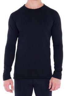 Camiseta Segunda Pele Térmica Thermal Stretch Solo - Masculino-Preto