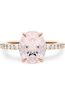 Anel Ouro Rosé Vivara Diamantes E Morganita