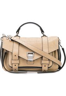 Proenza Schouler Ps1+ Tiny Zip-Paper Leather - Marrom