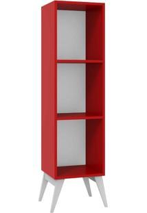 Estante Para Livros Madesa Tutti Colors 3016 Vermelho