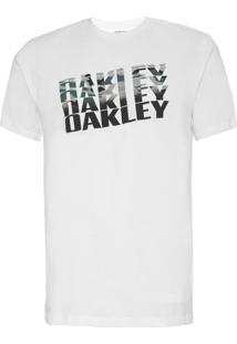 Camiseta Oakley Bark Camo Branca