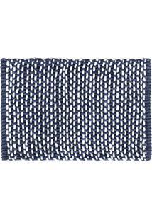 Tapete Micropop- Branco & Azul- 60X40Cm- Camesacamesa