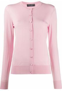 Dolce & Gabbana Cardigan Slim - Rosa