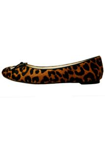 Sapatilha Vinci Shoes Pelo Onça Natural