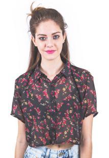 Camisa Marina&Gabriella Cropped Floral