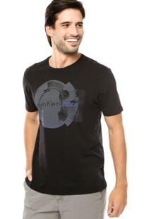 Camiseta Calvin Klein Gel Camurça Preta