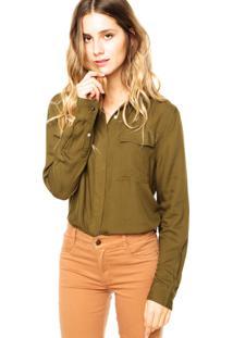 Camisa Manga Longa Ellus Rayon Verde