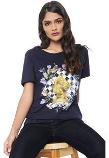 Camiseta Carmim Xeque Mate Azul-Marinho