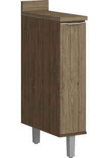 Armário De Cozinha 1 Porta Com Pé 4034P Cedro/Wood - Decibal Móveis