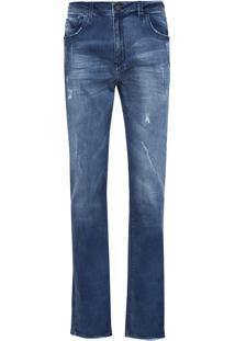 Calça Masculina Slim Boston 3D - Azul