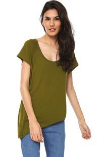 Camiseta Forum Assimétrica Verde