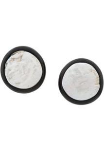 Monies Par De Brincos Com Pérolas - Branco