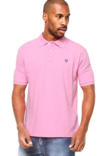 Camisa Polo Manga Curta Mr. Kitsch Basic Rosa