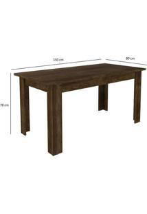 Conjunto Mesa Primus Com 6 Cadeiras Capri Sonetto Móveis Rústico