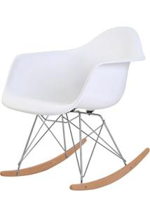 Cadeira Eames Eiffel Com Braco Polipropileno Cor Branco Base Balanco - 44925 - Sun House