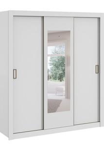Guarda-Roupa Casal Com Espelho Apoena 3 Pt 3 Gv Branco