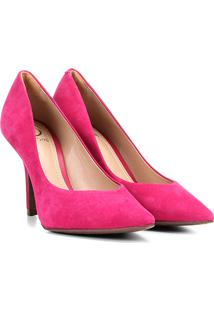 Scarpin Couro Dumond Salto Alto Bico Fino - Feminino-Pink