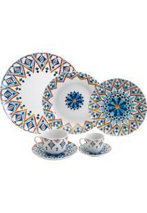 Aparelho De Jantar De Porcelana Super White Alsadd Wolff – 42 Peças