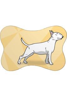 Tapete Mdecore Pet Bull Terrier Amarelo 46X33Cm