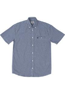 Camisa Wrangler Xadrez Azul