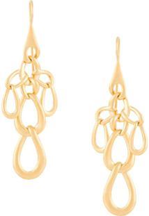 Marlene Juhl Jorgensen Flow Link Earrings - Dourado