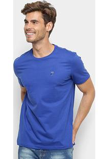 Camiseta T-Shirt Ellus Manga Curta Masculina - Masculino-Azul Royal