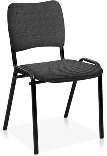 Cadeira Fixa Estofada Atena S/ Braã§Os Ci Cinza - Cinza - Dafiti