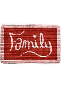 Capacho Carpet Family Vermelho Único Love Decor