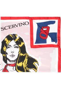 Ermanno Scervino Echarpe De Seda Com Estampa Gráfica - Rosa