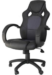 Cadeira Office Racer Preta E Cinza - 27713 - Sun House