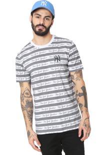 Camiseta New Era New York Yankees Branca/Cinza