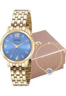 Kit Relógio Mondaine Feminino 99358Lpmkde5K2