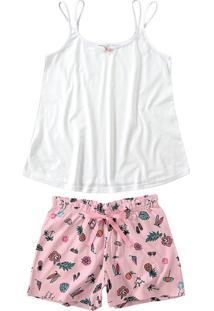 Pijama Tropical Lacinho Feminino Malwee Liberta