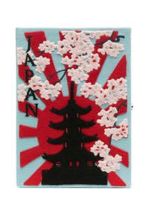 Olympia Le-Tan Clutch Livro Japan - Azul