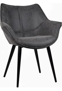 Cadeira Cecilia Preto Vintage Rivatti Móveis