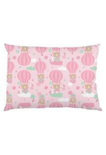 Fronha Estampada De Malha Bambi - Balões Rosa